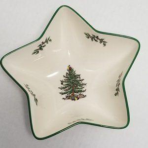 Spode Christmas Tree Star Shaped Bowl S3324-A4 54